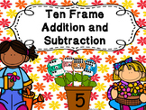 Adding and Subtracting  Ten Frame Flowers