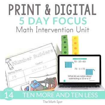 10 More 10 Less Math Intervention and RtI