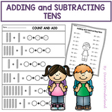 Adding and Subtracting Tens Worksheets