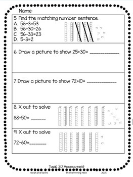 Adding and Subtracting Tens Assessment