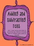 Adding and Subtracting Tens Center Game: 2.NBT.5