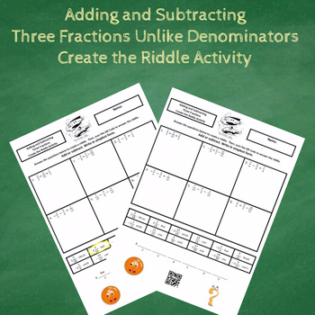 Adding and Subtracting Three (3) Fractions Unlike Denominators Create the Riddle