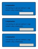 Adding and Subtracting Two Digit Numbers Using Compensation Student Booklet