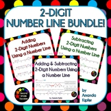 Adding and Subtracting Two-Digit Numbers on a Number Line BUNDLE