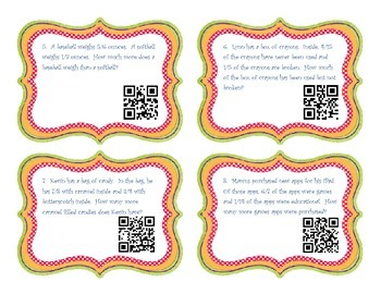 Adding and Subtracting Unlike Denominators with QR Codes