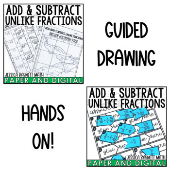 Add and Subtract Unlike Fractions Activity Pack