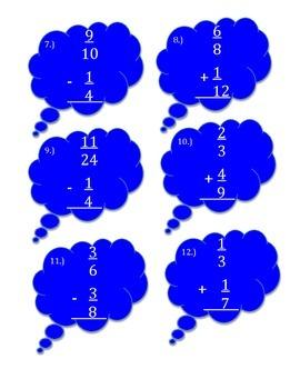 Adding and Subtracting Unlike denominators