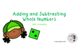 Adding and Subtracting Vocabulary PowerPoint and Student Notes