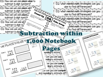 Adding and Subtracting WITHIN 1,000 Bundled (Aligned with GoMath Series)