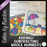 Adding and Subtracting Whole Numbers Color by Number