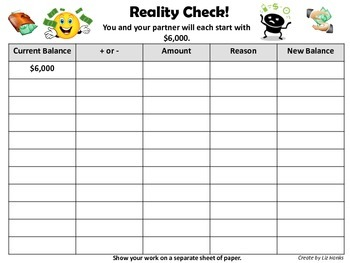 "Adding and Subtracting Whole Numbers - ""Reality Check"" Activity (4.NBT.4)"