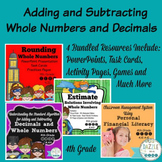 Adding and Subtracting Whole Numbers and Decimals - 4th Grade Bundle