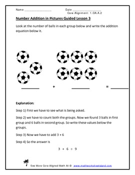 Simple Addition and Addition Word Problems Pack
