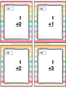 Adding and Subtracting Within 5 Task Cards & Game (Summer) K.OA.5