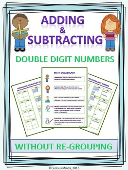 Adding and Subtracting 2 Digit Numbers Without Re-Grouping