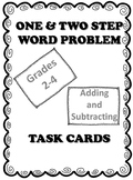 One and Two Step Word Problem Task Cards