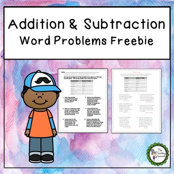 Adding and Subtracting Word Problems