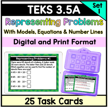 Adding and Subtracting Word Problems (Number Lines, Pictures, Equations) 3.5(A)