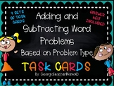 Adding and Subtracting Word Problems Task Cards Based on Problem Type