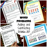 Adding and Subtracting Word Problems Within 20 - 4 Different Activities