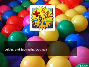 Adding and Subtracting decimals powerpoint - Music. movie, foldable