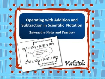 Adding and Subtracting in Scientific Notation