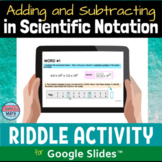 Adding and Subtracting in Scientific Notation Distance Lea