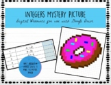 Adding and Subtracting integers mystery picture- google sheets