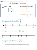 Adding and Subtracting Fractions on a Number Line