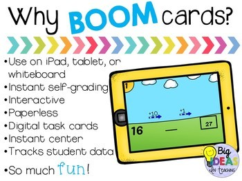 Adding and Subtracting the Arrow Way BOOM Cards Digital
