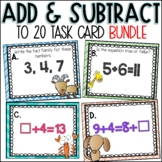 Adding and Subtracting to 20 Task Card Bundle