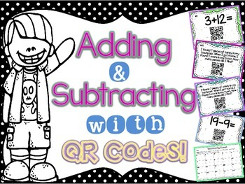 Adding and Subtracting to 20 with QR Codes
