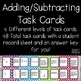Adding & Subtracting up to 20 Differentiated Task Cards
