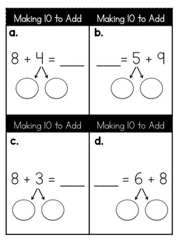 Making 10 to Add and Subtract