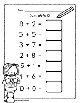 Adding and Subtracting with 10 Practice Pages