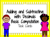 Adding and Subtracting with Decimals- Basic Computation Ta