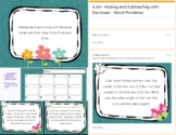 Adding and Subtracting with Decimals- Word Problem Task Cards