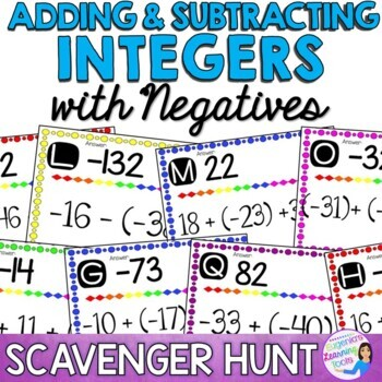 Adding and Subtracting Integers - Scavenger Hunt