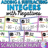 Integer Operations:Adding and Subtracting Integers - Scavenger Hunt