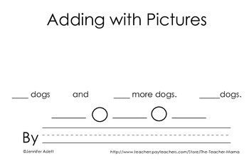 Adding and Subtracting with Pictures Activity Book Bundle