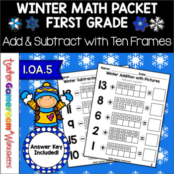 Adding and Subtracting with Pictures Worksheets 1.OA.5