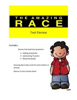 Adding and Subtracting with Regrouping Review Game Amazing Race Theme