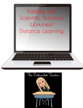 Adding and Subtracting with Scientific Notation Worksheet