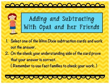 Adding and Subtracting with Winn-Dixie and Friends