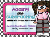 Adding and Subtracting with Written Form Flippables and Activities
