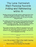 Adding and Subtracting within 10 - Math Running Record