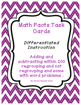 Adding & Subtracting within 100 Differentiated Task Cards