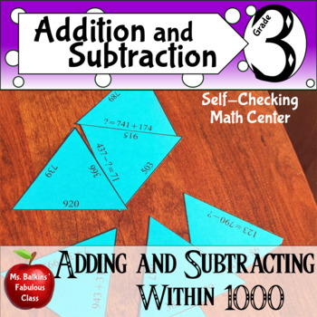 Adding and Subtracting within 1000 Math Center 3.nbt.2