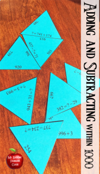 Adding and Subtracting within 1000 Bundle for Math Centers 3.nbt.2