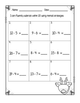 Adding and Subtracting within 20